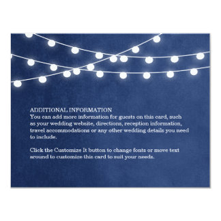 Sommer-Schnur-Lichter, die Einsatz-Karte Wedding 10,8 X 14 Cm Einladungskarte