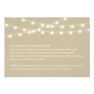 Sommer-Schnur-Lichter, die Einsatz-Karte Wedding Individuelle Ankündigung