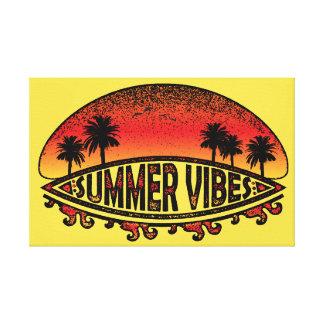 Sommer-Schwingungen - endlose Sonnenuntergänge Leinwanddruck