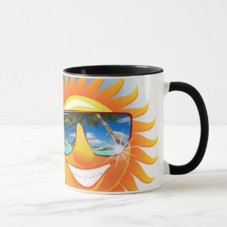 Sommer Smiley mit Cocktail Tasse