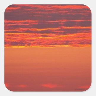 Sommer-Sonnenaufgang Quadratischer Aufkleber