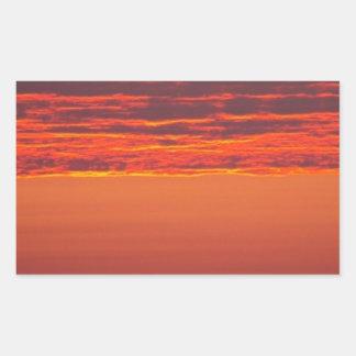 Sommer-Sonnenaufgang Rechteckiger Aufkleber