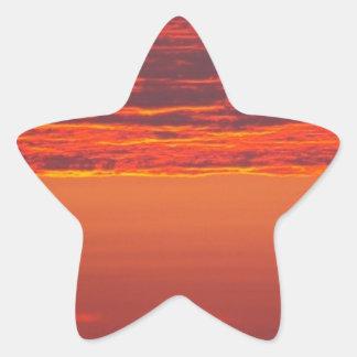 Sommer-Sonnenaufgang Stern-Aufkleber