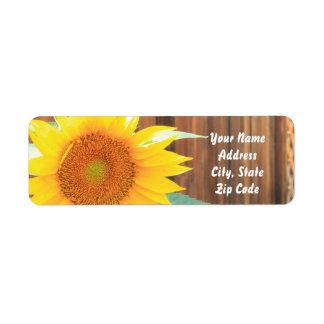 Sommer-Sonnenblume-Adressen-Etiketten