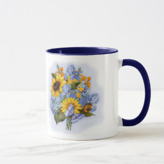 Sommer-Sonnenblume-Blumenstrauß Tasse