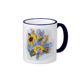 Sommer-Sonnenblume-Blumenstrauß Tee Tassen