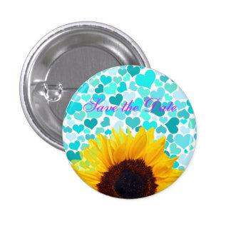 Sommer-Sonnenblume-Hochzeits-Braut-Spaßconfetti-He Runder Button 2,5 Cm