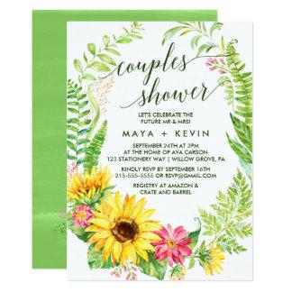 Sommer-Sonnenblume-Kranz-Paar-Dusche Karte