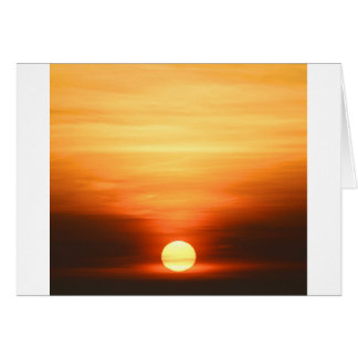 Sommer-Sonnenuntergang Karte