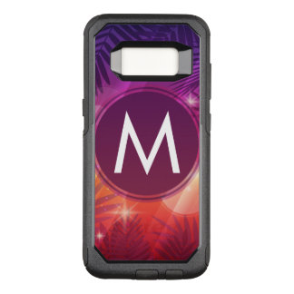 Sommer-Sonnenuntergang-Palme-Monogramm-lila Orange OtterBox Commuter Samsung Galaxy S8 Hülle