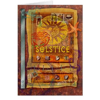 Sommer-Sonnenwende Grußkarte