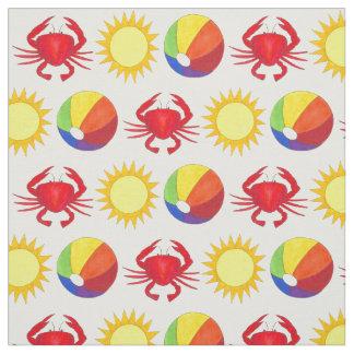 Sommer-Spaß-Krabbe Beachball Stoff