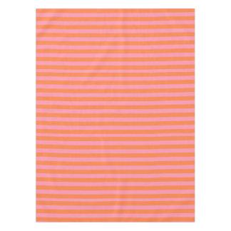 Sommer-Stimmungs-orange Rosa zeichnet Tischdecke