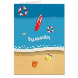 Sommer-Strand-Bild Karte