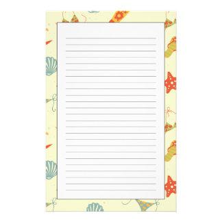 Sommer-Strand-Muster Personalisiertes Büropapier