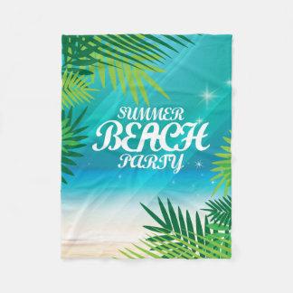 Sommer-Strand-Party Fleecedecke
