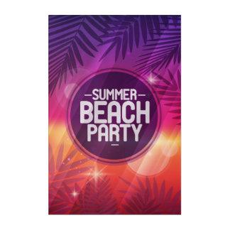 Sommer-Strand-Party-Nacht Acryl Wandkunst