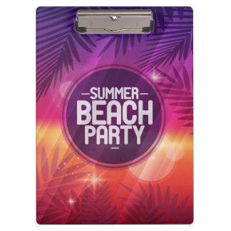 Sommer-Strand-Party-Nacht Klemmbrett