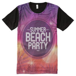 Sommer-Strand-Party-Nacht T-Shirt Mit Bedruckbarer Vorderseite