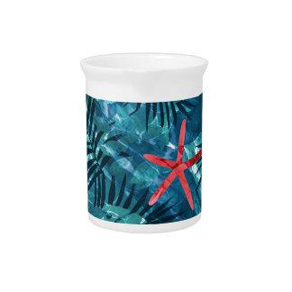 Sommer-Strand-tropisches Muster Krug