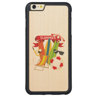 Sommer-Strand Watersports Carved® Maple iPhone 6 Plus Bumper Hülle