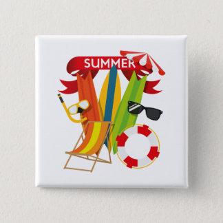 Sommer-Strand Watersports Quadratischer Button 5,1 Cm