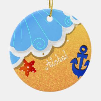 Sommer-Strandverzierung Keramik Ornament
