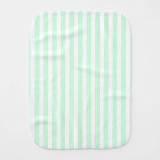 Sommer-tadellose blasse e-grün Minze u. weißer Baby Spucktuch