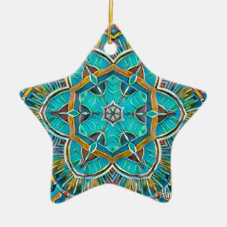 Sommer-Thema-Kaleidoskop Keramik Stern-Ornament
