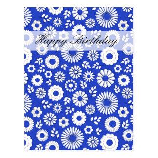 Sommer-tiefe blaue alles- Gute zum Geburtstagmit Postkarte