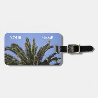 Sommer-tropische Palme-Wedel-Schablone Kofferanhänger