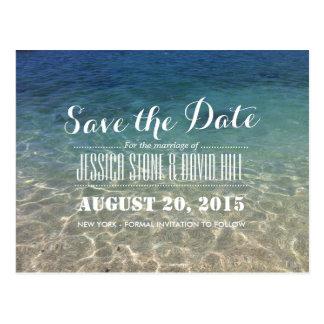 Sommer-tropische Strand-Hochzeit Save the Date Postkarte