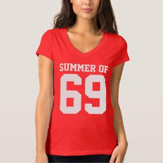 Sommer von 69 V-Hals T - Shirt