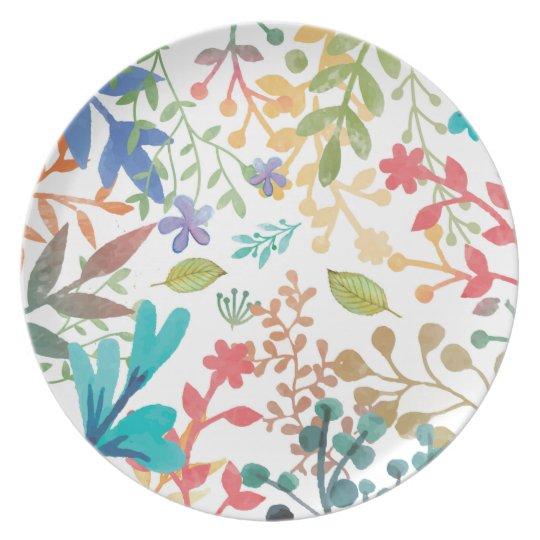 Sommer-Waldwatercolor-Teller Teller