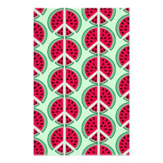 Sommer-Wassermelone Briefpapier