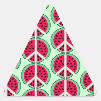 Sommer-Wassermelone Dreieckiger Aufkleber