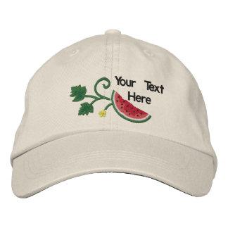 Sommer-Wassermelone - fertigen Sie besonders an Besticktes Baseballcap
