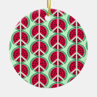 Sommer-Wassermelone Keramik Ornament