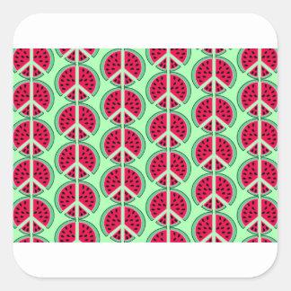 Sommer-Wassermelone Quadratischer Aufkleber