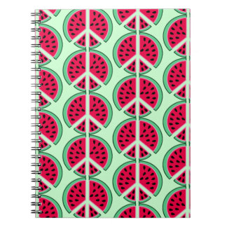 Sommer-Wassermelone Spiral Notizblock