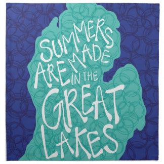 Sommer werden in den Great Lakes - Blau gemacht Serviette