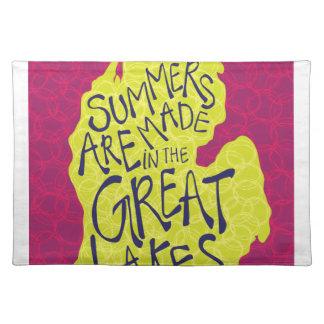 Sommer werden in den Great Lakes - Kinder gemacht! Stofftischset