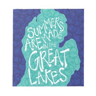 Sommer werden in den Great Lakes - Schürze gemacht Notizblock