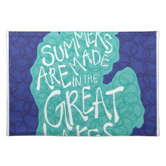 Sommer werden in den Great Lakes - Schürze gemacht Tischset