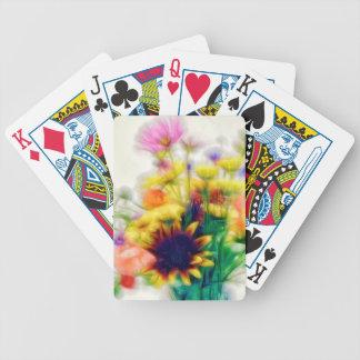 Sommer-Wildblume-Blumenstrauß Bicycle Spielkarten