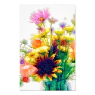 Sommer-Wildblume-Blumenstrauß Briefpapier