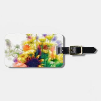 Sommer-Wildblume-Blumenstrauß Gepäckanhänger