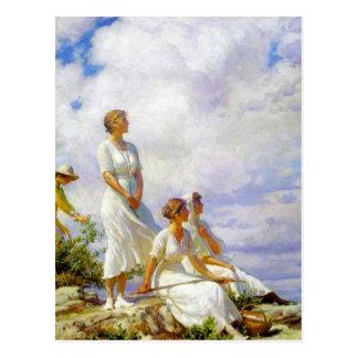 Sommer-Wolken durch Charles Courtney Curran Postkarte