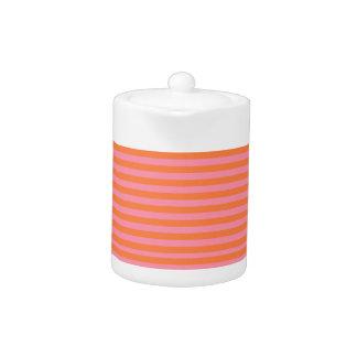 Sommer zeichnet orange rosa kleine Teekanne