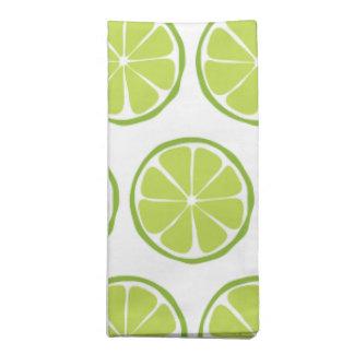Sommer-Zitrusfrucht-Limone Stoff-Servietten (Set Serviette